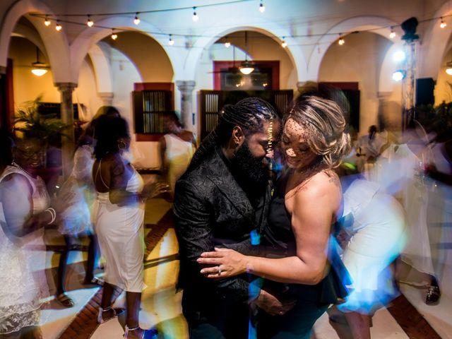 Jaamal and Chena's Wedding in Playa del Carmen, Mexico 61