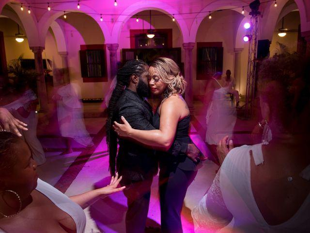 Jaamal and Chena's Wedding in Playa del Carmen, Mexico 62