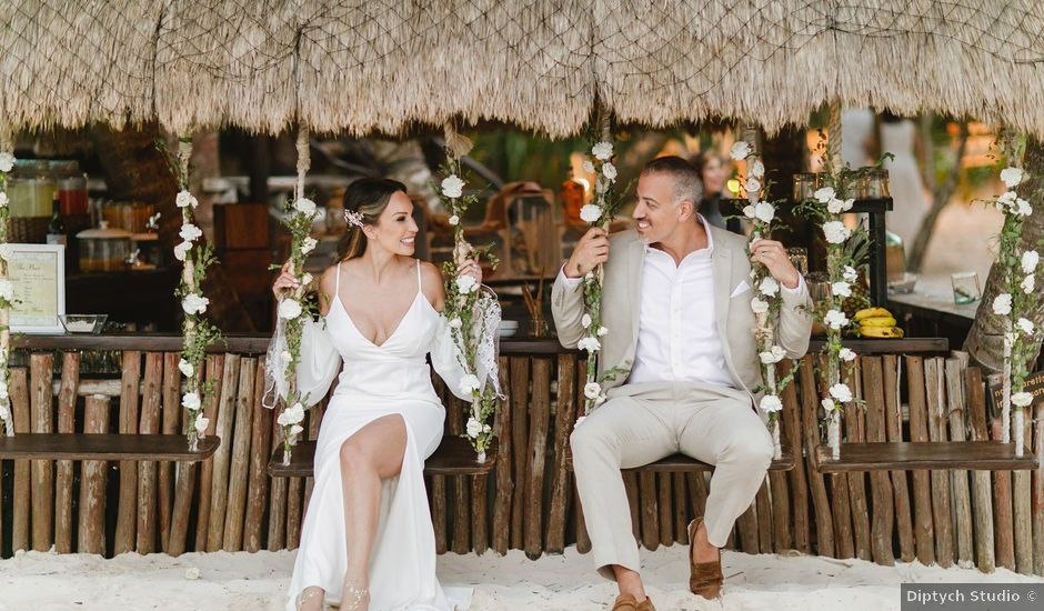 Brian and Nathalie's Wedding in Cancun, Mexico
