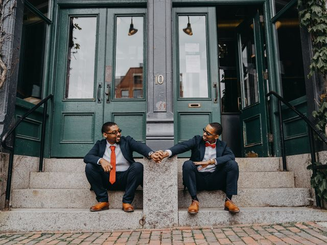 The wedding of Randy and Jermaine