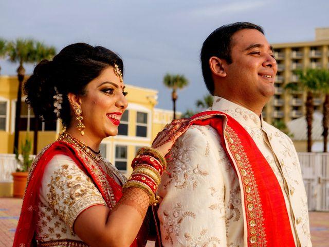 Mahul and Pooja's Wedding in Daytona Beach, Florida 8