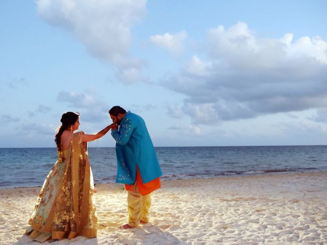 Mrugesh and Saachi's Wedding in Cancun, Mexico 9