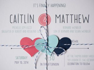 The wedding of Matthew and Caitlin 1