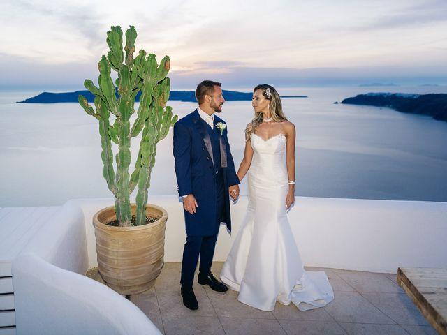 Glen and Karyna's Wedding in Santorini, Greece 16