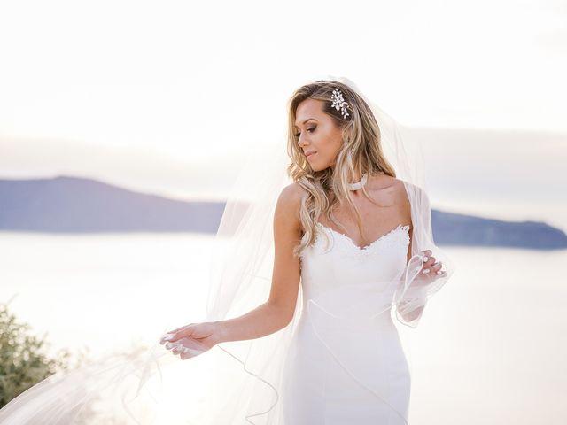 Glen and Karyna's Wedding in Santorini, Greece 17
