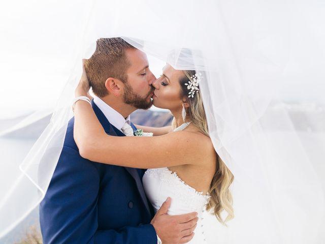 Glen and Karyna's Wedding in Santorini, Greece 19