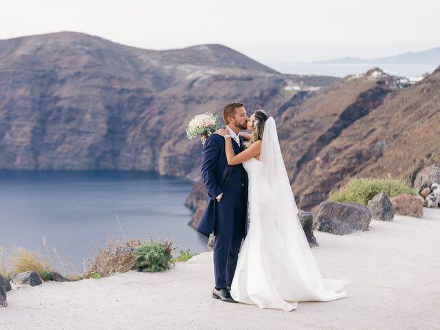 Glen and Karyna's Wedding in Santorini, Greece 1