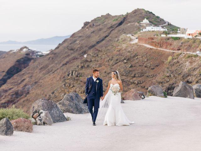 Glen and Karyna's Wedding in Santorini, Greece 22