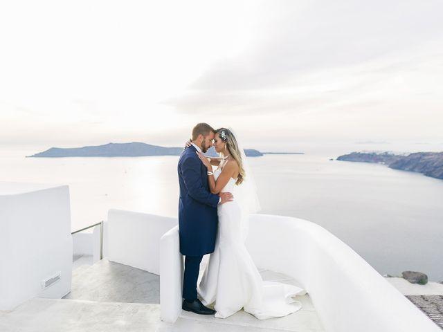 Glen and Karyna's Wedding in Santorini, Greece 24