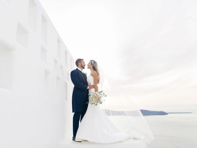 Glen and Karyna's Wedding in Santorini, Greece 26