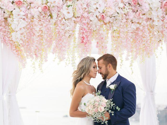 Glen and Karyna's Wedding in Santorini, Greece 29