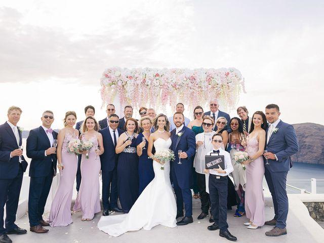 Glen and Karyna's Wedding in Santorini, Greece 35