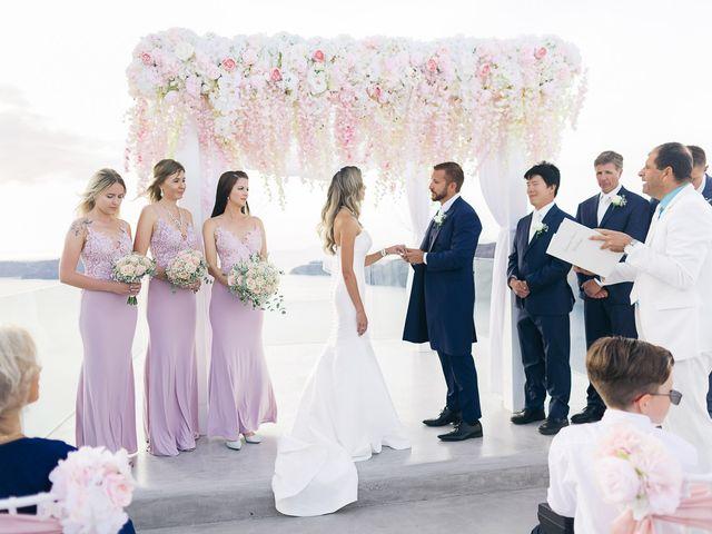 Glen and Karyna's Wedding in Santorini, Greece 36