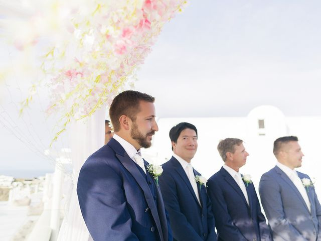 Glen and Karyna's Wedding in Santorini, Greece 40