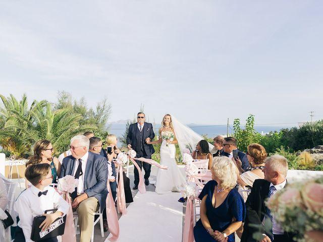 Glen and Karyna's Wedding in Santorini, Greece 41