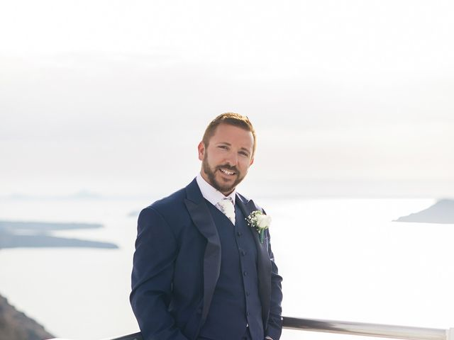 Glen and Karyna's Wedding in Santorini, Greece 56