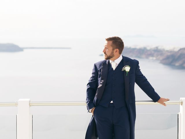 Glen and Karyna's Wedding in Santorini, Greece 61
