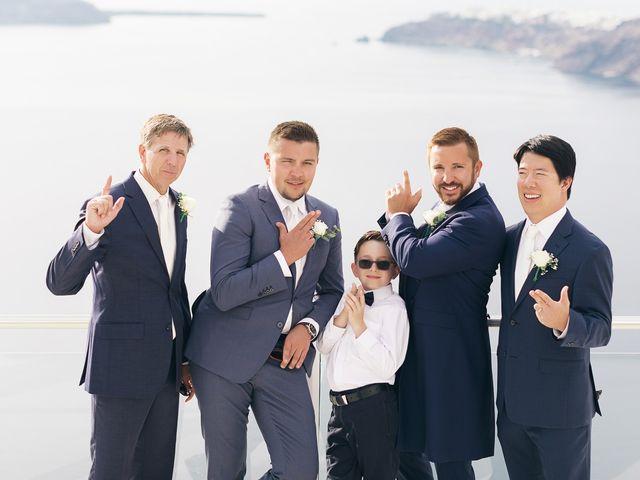 Glen and Karyna's Wedding in Santorini, Greece 62