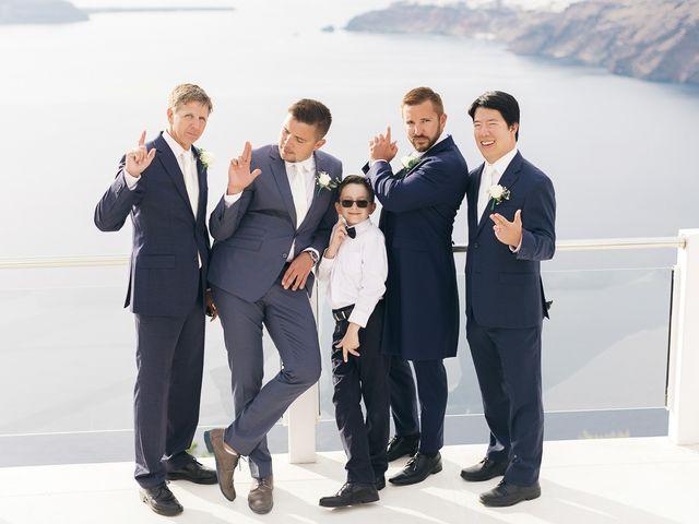 Glen and Karyna's Wedding in Santorini, Greece 63