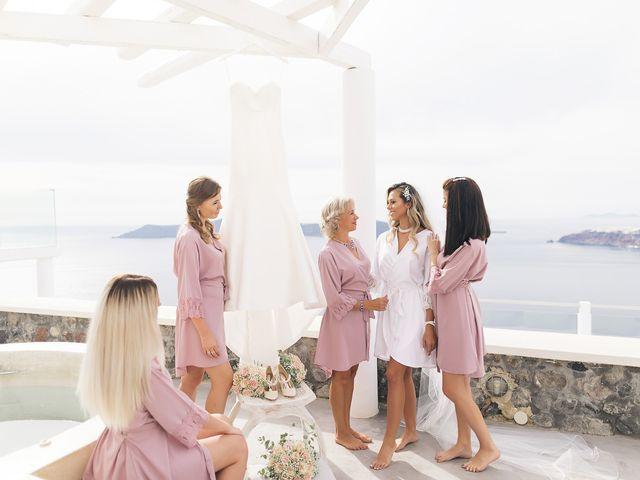 Glen and Karyna's Wedding in Santorini, Greece 91