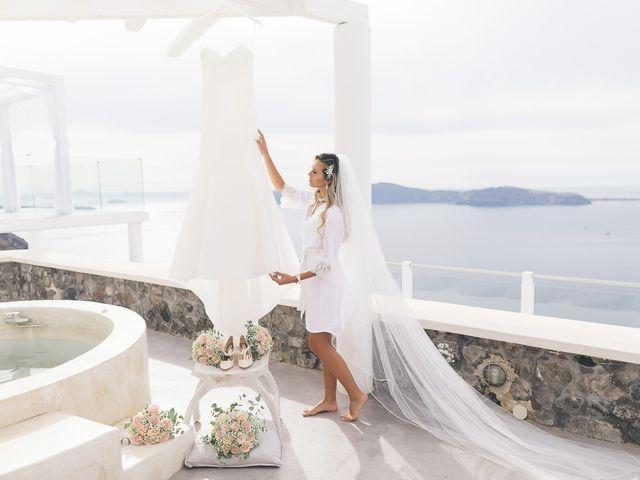 Glen and Karyna's Wedding in Santorini, Greece 92