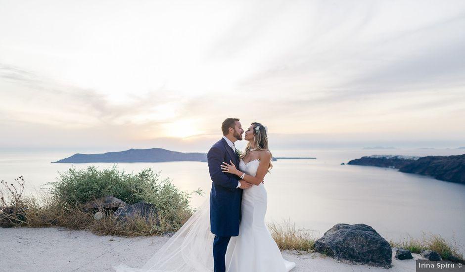 Glen and Karyna's Wedding in Santorini, Greece