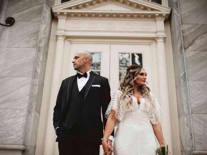 The wedding of Angela and James