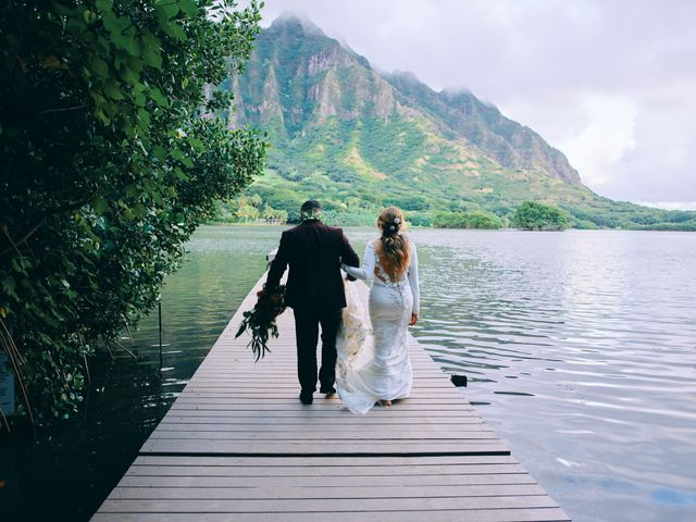 Bella and Larry's Wedding in Hawaii National Park, Hawaii 36