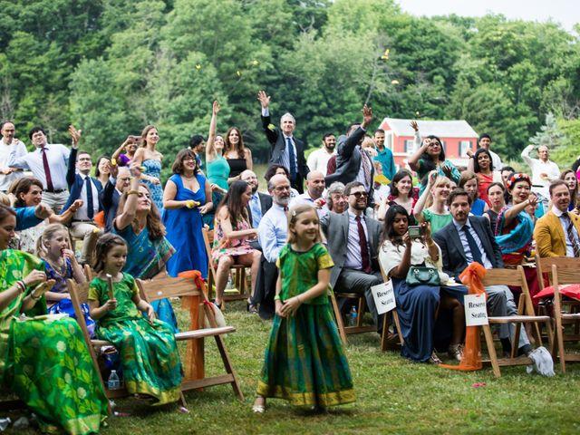 Antoine and Sharanya's Wedding in Catskill, New York 20