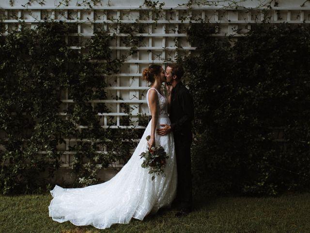 The wedding of Jekka and Chris