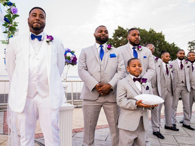 Lamar and Cierra's Wedding in Aberdeen Proving Ground, Maryland 9