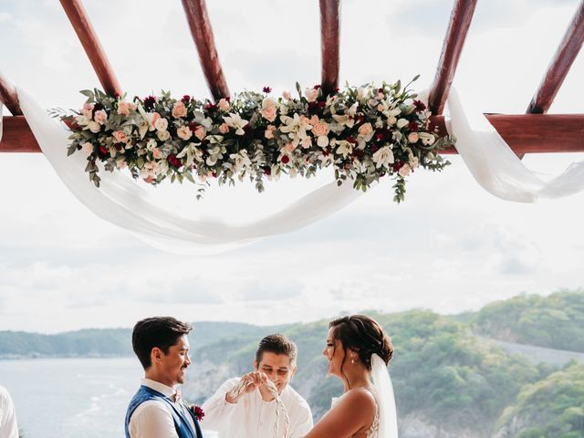 Adam and Macy's Wedding in Bahias De Huatulco, Mexico 82