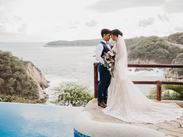 Adam and Macy's Wedding in Bahias De Huatulco, Mexico 94