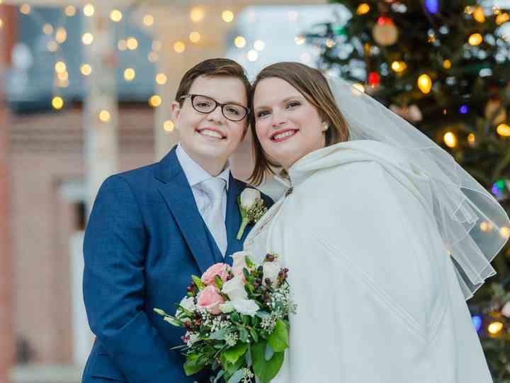 The wedding of Mary Beth and April