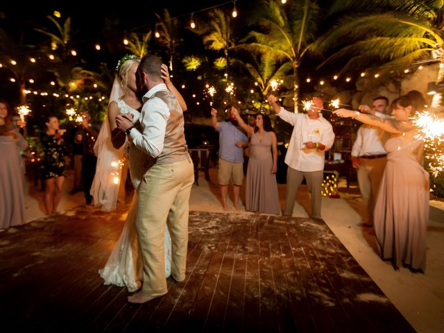 Kyle and Crystal's Wedding in Playa del Carmen, Mexico 74