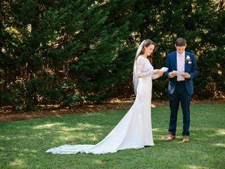 The wedding of Caroline and David