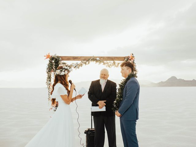 Cody and Abbey's Wedding in Wendover, Utah 32
