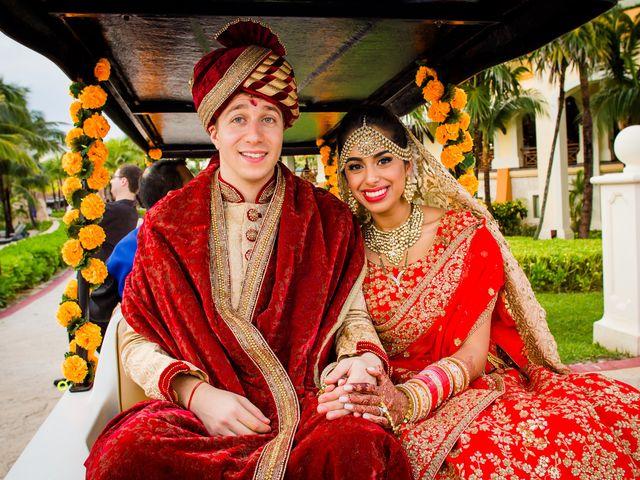 Arthur and Deepika's Wedding in Cancun, Mexico 34