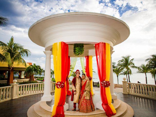 Arthur and Deepika's Wedding in Cancun, Mexico 36