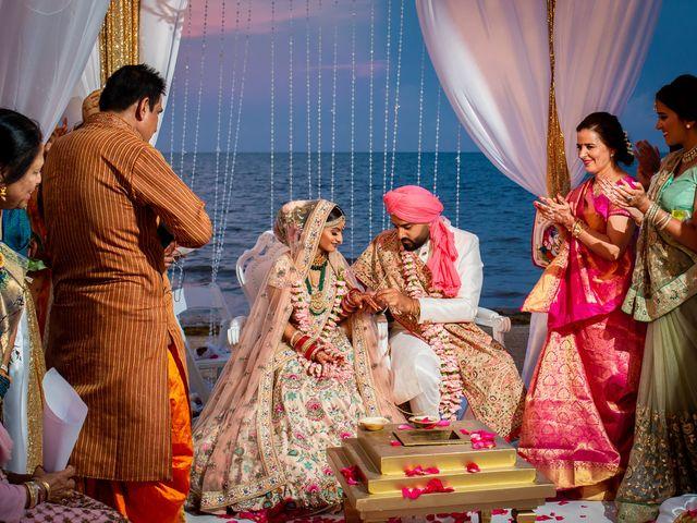 The wedding of Janani and Deep