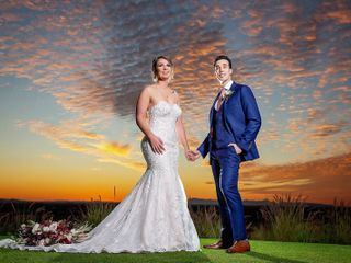 The wedding of James and Stephanie