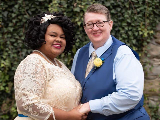 The wedding of Pamela and Jackie