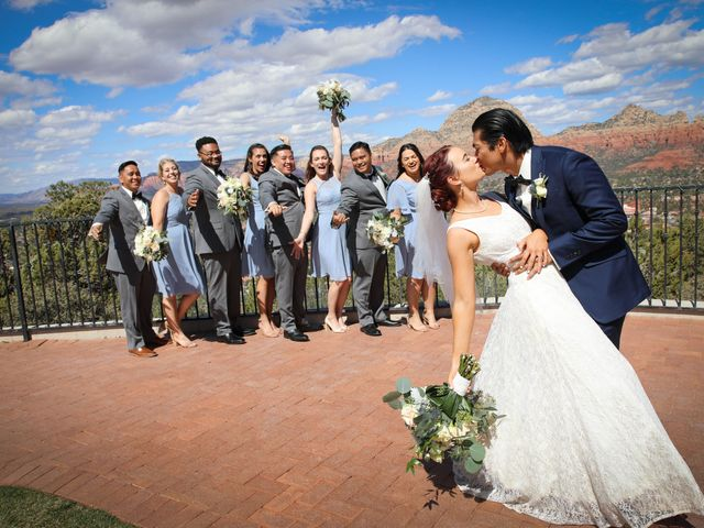 Jerome and Cassie's Wedding in Sedona, Arizona 11