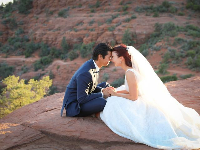 Jerome and Cassie's Wedding in Sedona, Arizona 14