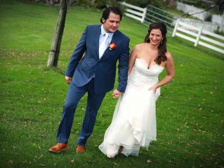 The wedding of Rhia and George