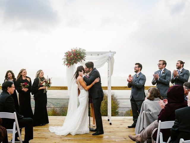 Jared and Justine's Wedding in Roxbury, New York 35