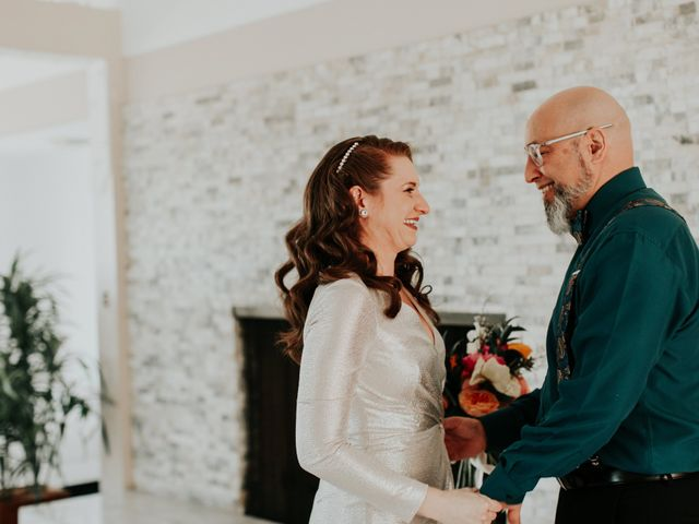 The wedding of Christal and Eric