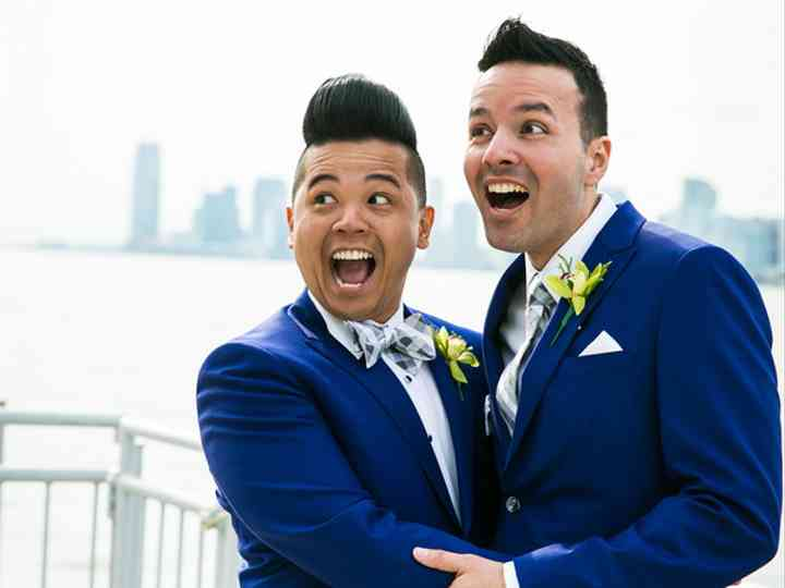 The wedding of Mike and Aldrin