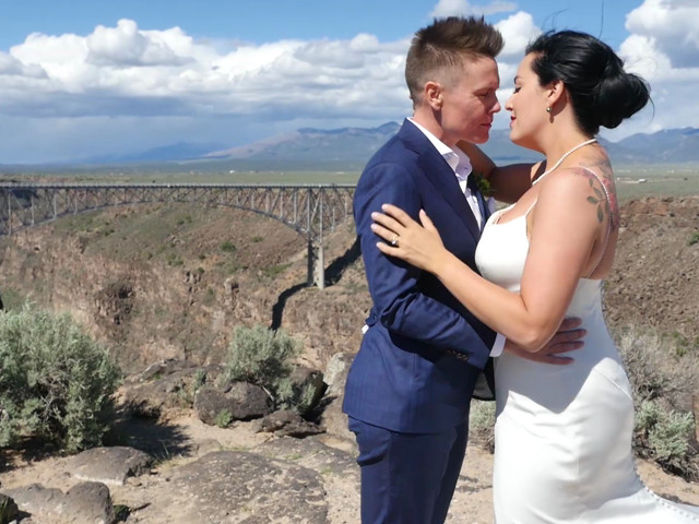 Courtney and Amy Lynn's Wedding in Taos, New Mexico 1