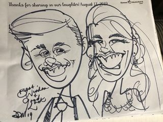 Adam Pate's 60 Second Strolling Speed Sketchers Caricatures and Entertainment 1